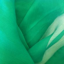 Emerald Silk Chiffon Fabric 0.5m